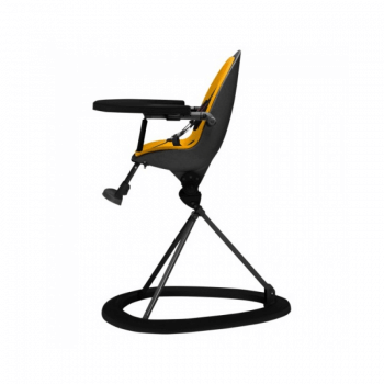 Ickle Bubba Orb Highchair - Yellow on Black Frame Side