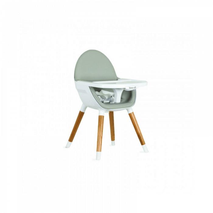Koo-Di Duo Wooden Highchair - Grey and Beech Short