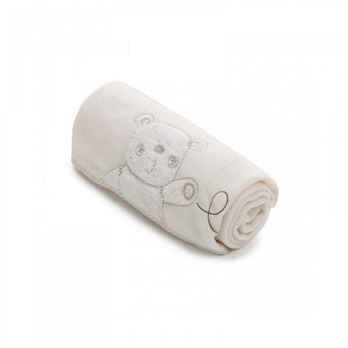 Obaby B Is For Bear Appliqued Fleece Blankets - Cream