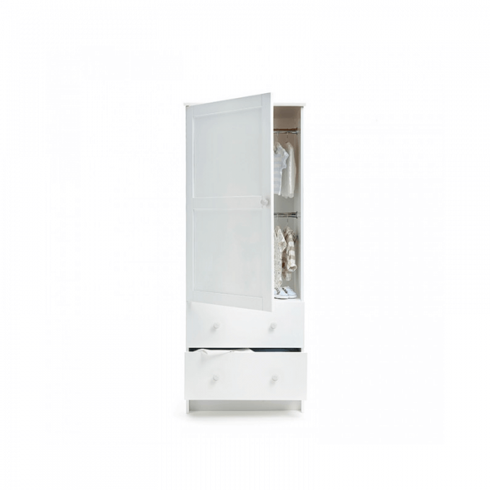Obaby Single Wardrobe - White Open