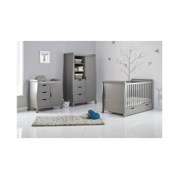 Obaby Stamford 3 Piece Room Set - Taupe Grey Inside