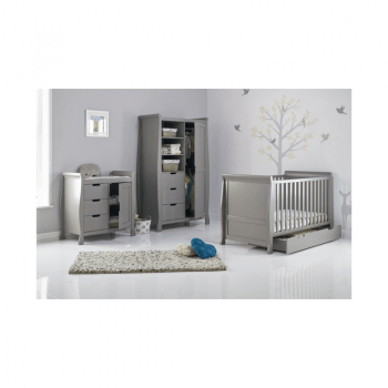 Obaby Stamford 3 Piece Room Set - Taupe Grey Inside Open