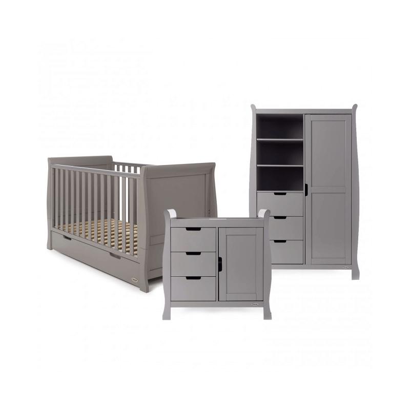 Obaby Stamford 3 Piece Room Set - Taupe Grey