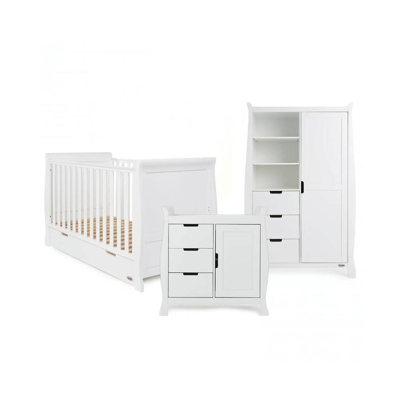 Obaby Stamford 3 Piece Room Set - White