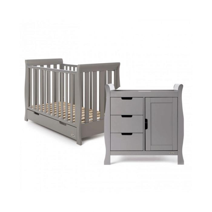 Obaby Stamford Mini 2 Piece Room Set - Taupe Grey