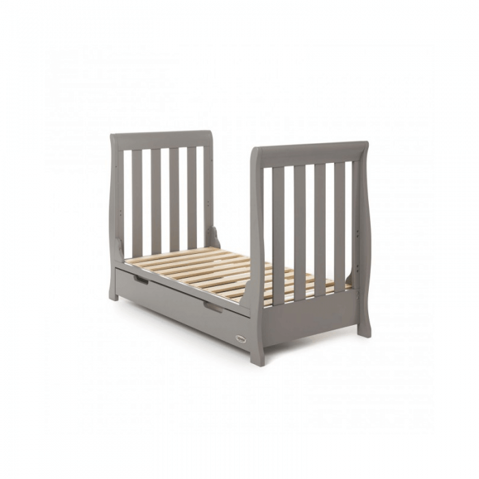 Obaby Stamford Mini 2 Piece Room Set - Taupe Grey Bed