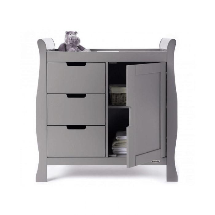 Obaby Stamford Mini 2 Piece Room Set - Taupe Grey Changer