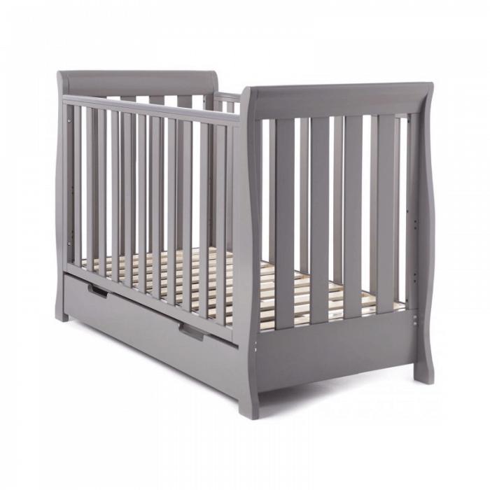 Obaby Stamford Mini 2 Piece Room Set - Taupe Grey Cot