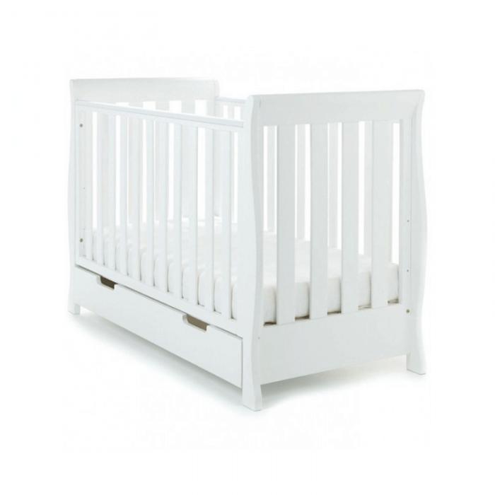 Obaby Stamford Mini 2 Piece Room Set - White Cot
