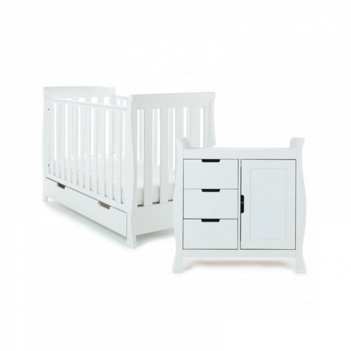 Obaby Stamford Mini 2 Piece Room Set - White Set