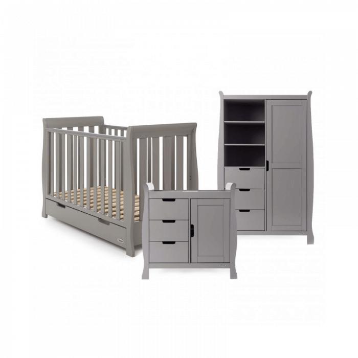 Obaby Stamford Mini 3 Piece Room Set - Taupe Grey
