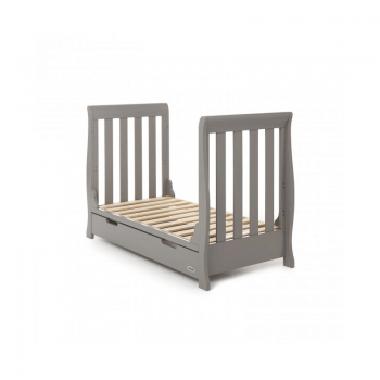 Obaby Stamford Mini 3 Piece Room Set - Taupe Grey Bed