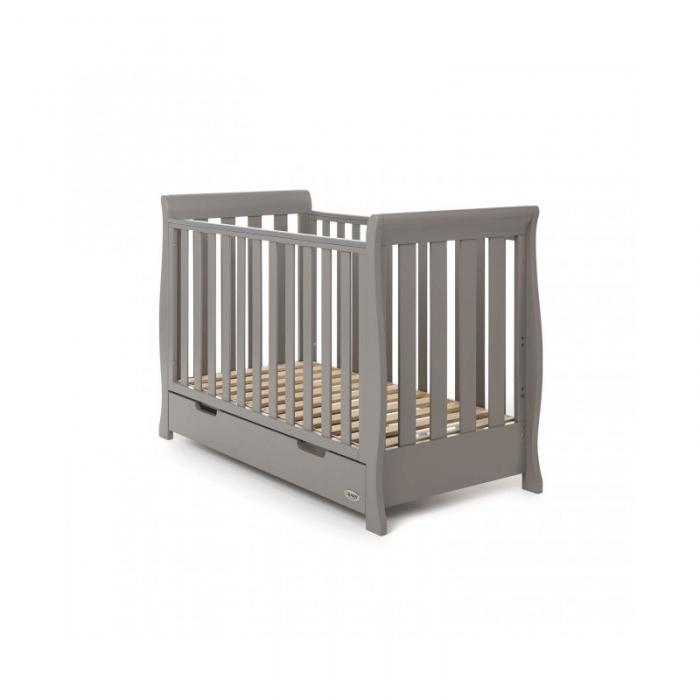 Obaby Stamford Mini 3 Piece Room Set - Taupe Grey Cot