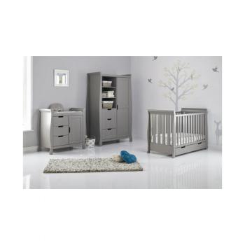 Obaby Stamford Mini 3 Piece Room Set - Taupe Grey Inside