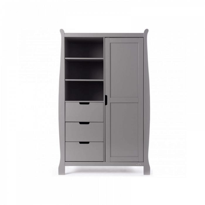 Obaby Stamford Mini 3 Piece Room Set - Taupe Grey Wardrobe