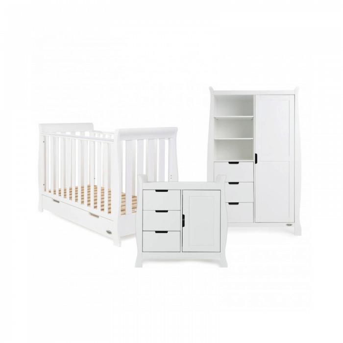 Obaby Stamford Mini 3 Piece Room Set - White 1