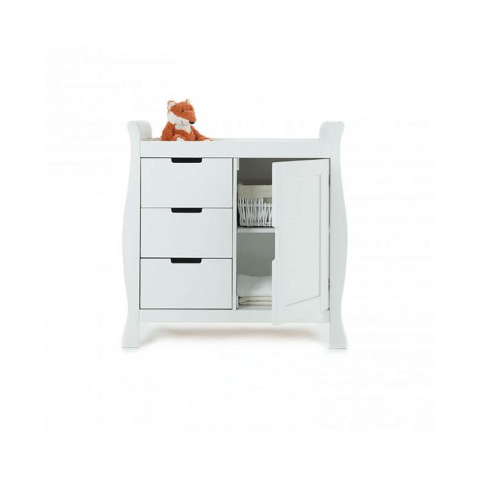Obaby Stamford Mini 3 Piece Room Set - White Changer Open