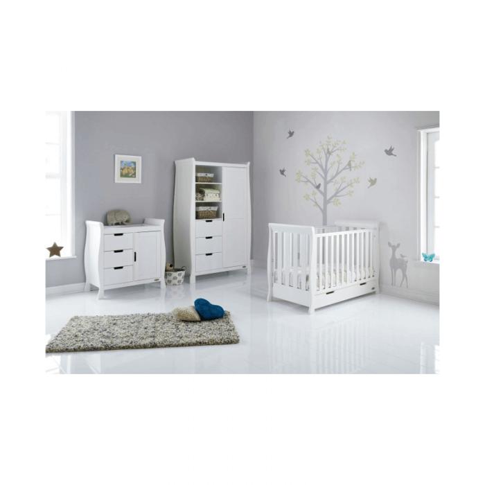 Obaby Stamford Mini 3 Piece Room Set - White Inside