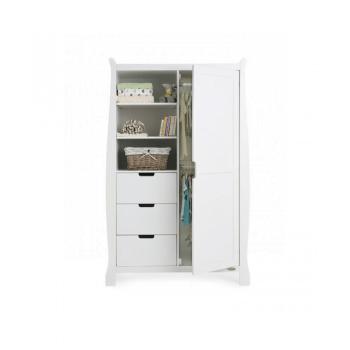 Obaby Stamford Mini 3 Piece Room Set - White Obaby Wardrobe