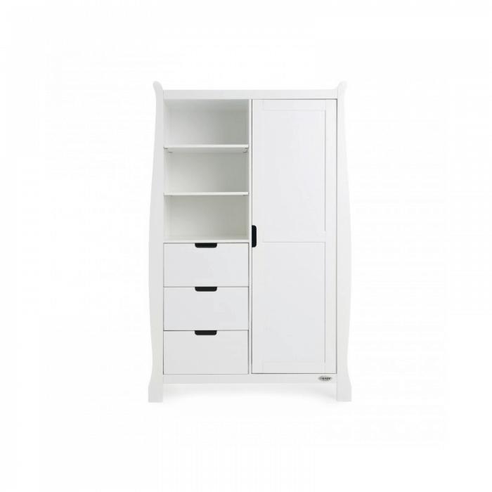 Obaby Stamford Mini 3 Piece Room Set - White Wardrobe