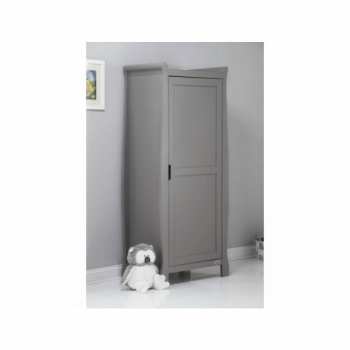 Obaby Stamford Single Wardrobe - Taupe Grey Inside closed