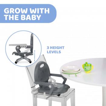 Chicco Pocket Snack Booster Seat Highchair - Dark Grey