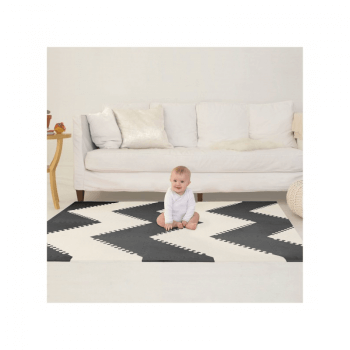 Skip Hop Geo Playmat - Black-Cream Inside