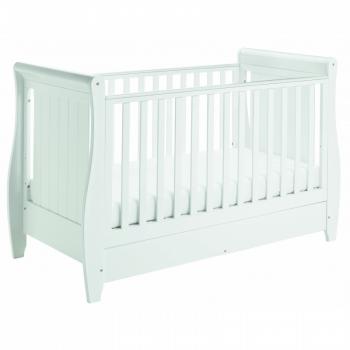 Stella Sleigh Cot Bed - White-2