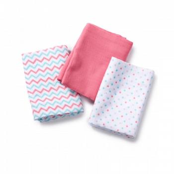 Summer Infant Muslin Blanket - Zigzag-Pink-Multi Dot 3 Pk