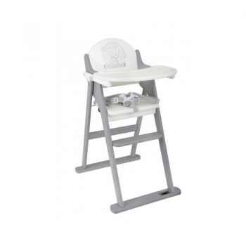 Tiny Tatty Teddy White and Grey Folding Highchair