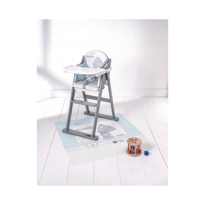 Tiny Tatty Teddy White and Grey Folding Highchair Match