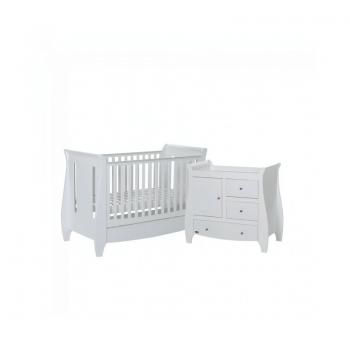 Tutti Bambini Lucas 2 Piece Sleigh Room Set - White