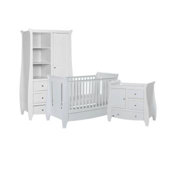 Tutti Bambini Lucas 3 Piece Sleigh Room Set - White