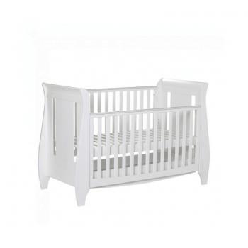 Tutti Bambini Lucas 3 Piece Sleigh Room Set - White Cot 2