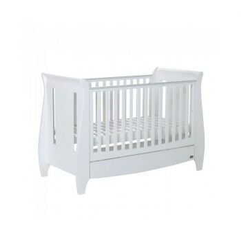 Tutti Bambini Lucas 3 Piece Sleigh Room Set - White Cot