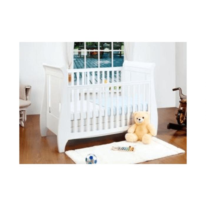 Tutti Bambini Lucas 3 Piece Sleigh Room Set - White Cot Inside