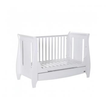 Tutti Bambini Lucas 3 Piece Sleigh Room Set - White Cot Side