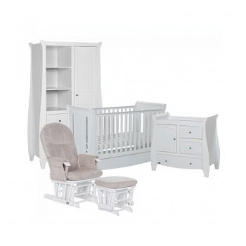 Tutti Bambini Lucas 5 Piece Sleigh Room Set - White