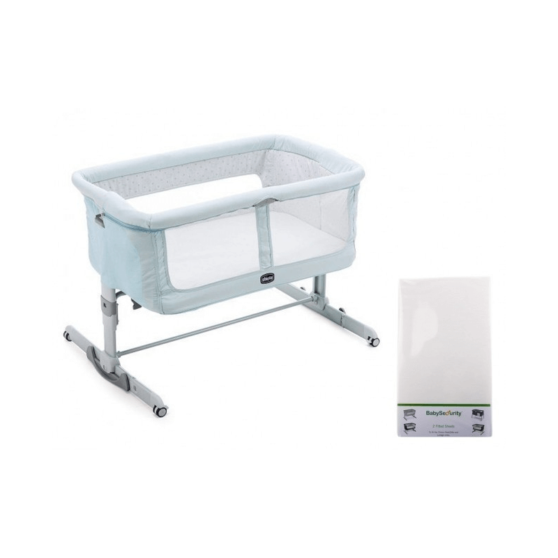 Chicco Next2Me Dream + Free Fitted Sheet Side Sleeping Crib - Fairy Tale