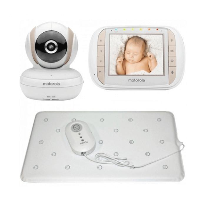 Motorola MBP35XLC Baby Video Monitor and Nanny Breathing Monitor Bundle