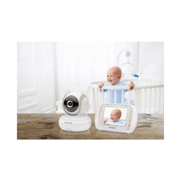 Motorola MBP35XLC Baby Video Monitor and Nanny Breathing Monitor Bundle Inside