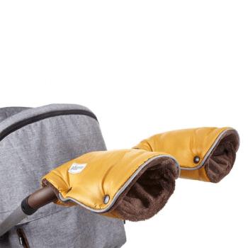Little Angel Universal Pram and Pushchair Gloves - Gold/Brown