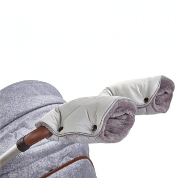 Little Angel Universal Pram and Pushchair Gloves - Light Grey/Grey