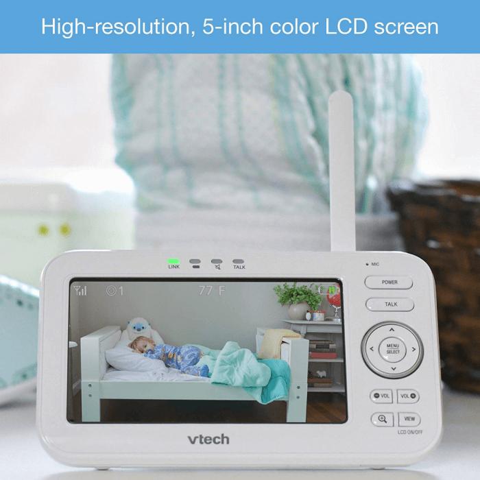 VTech Safe & Sound 5 inch Video Baby Monitor - VM5261 4