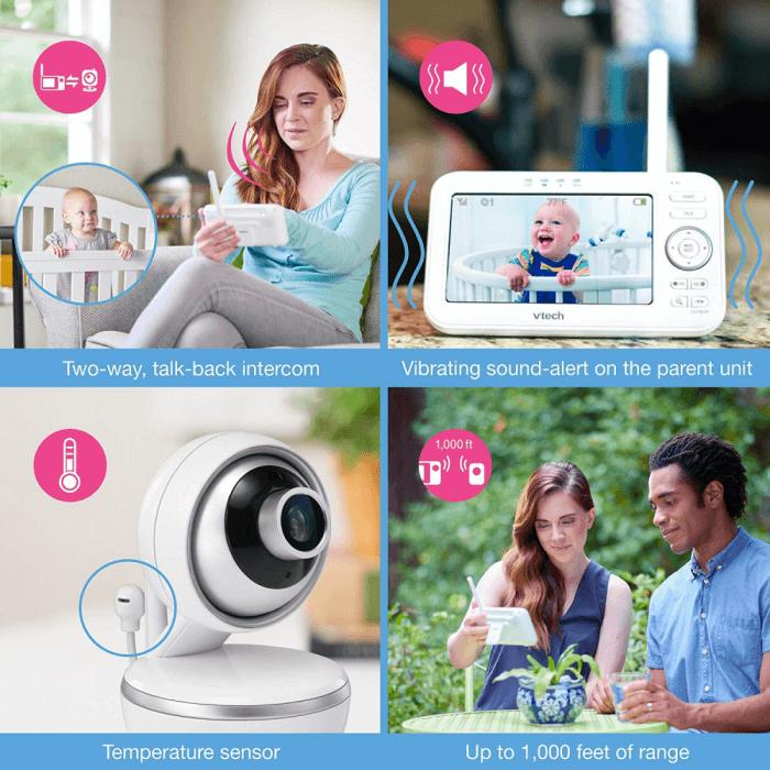 VTech Safe & Sound 5 inch Video Baby Monitor - VM5261 7