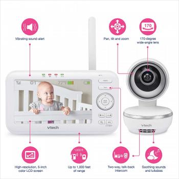 VTech Safe & Sound 5 inch Video Baby Monitor - VM5261 8