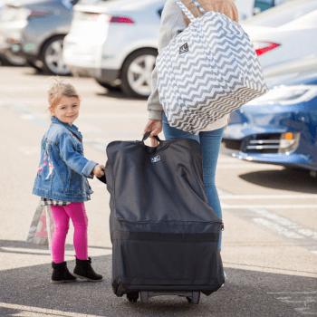 JL Childress Wheelie Car Seat Travel Bag - Black 2