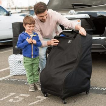 JL Childress Wheelie Car Seat Travel Bag - Black