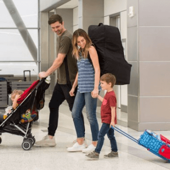 JL Childress Wheelie Car Seat Travel Bag - Black 8