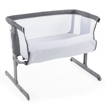 chicco next2me air side sleepign crib dark grey
